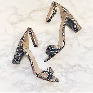 H&M high heeled Snakeskin sandals
